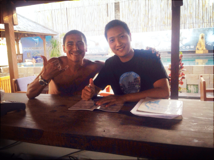 With Ari Martinez from Blue Marlin Gili T