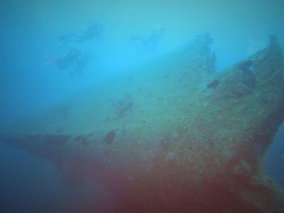 Mutiara Wreck. Kedalaman 30m