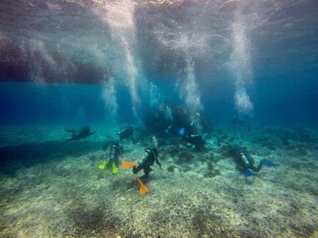 Divers meeting