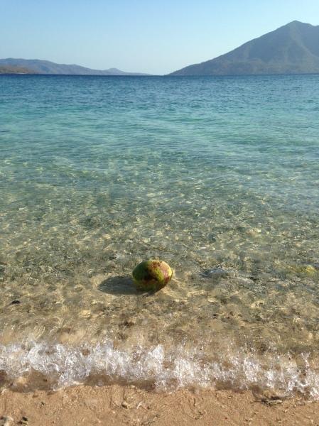 Jernihnya air di pantai Sabanjar